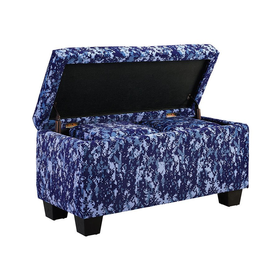 Ashley Furniture Killeen Texas: Fort Hood Twin Upholstered Bed W/ Ottomans (Digi Camo Blue