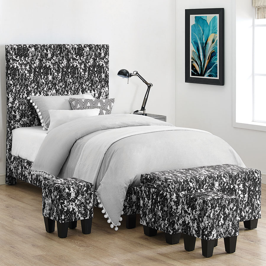 Ashleys Furniture Killeen Tx: Fort Hood Twin Upholstered Bed W/ Ottomans (Digi Camo