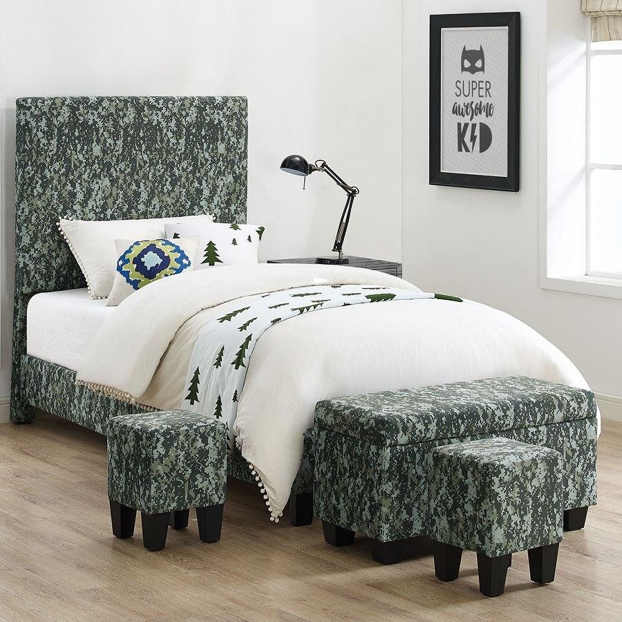 Ashley Furniture Killeen Texas: Fort Hood Twin Upholstered Bed W/ Ottomans (Digi Camo