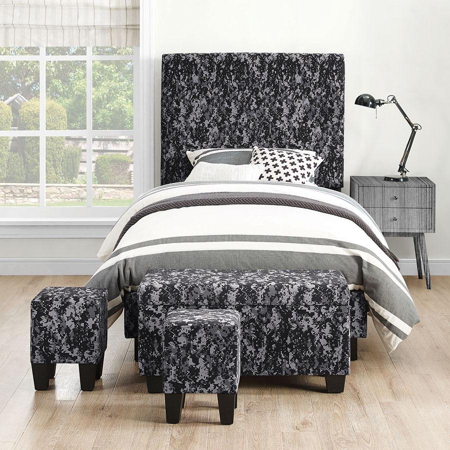 Ashley Furniture Killeen Texas: Fort Hood Twin Upholstered Bed W/ Ottomans (Digi Camo Gray