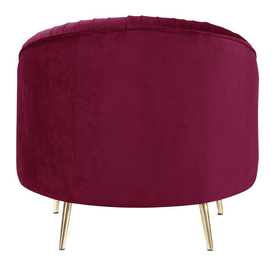 Enjoyable Princeton Accent Chair Red Gold Machost Co Dining Chair Design Ideas Machostcouk