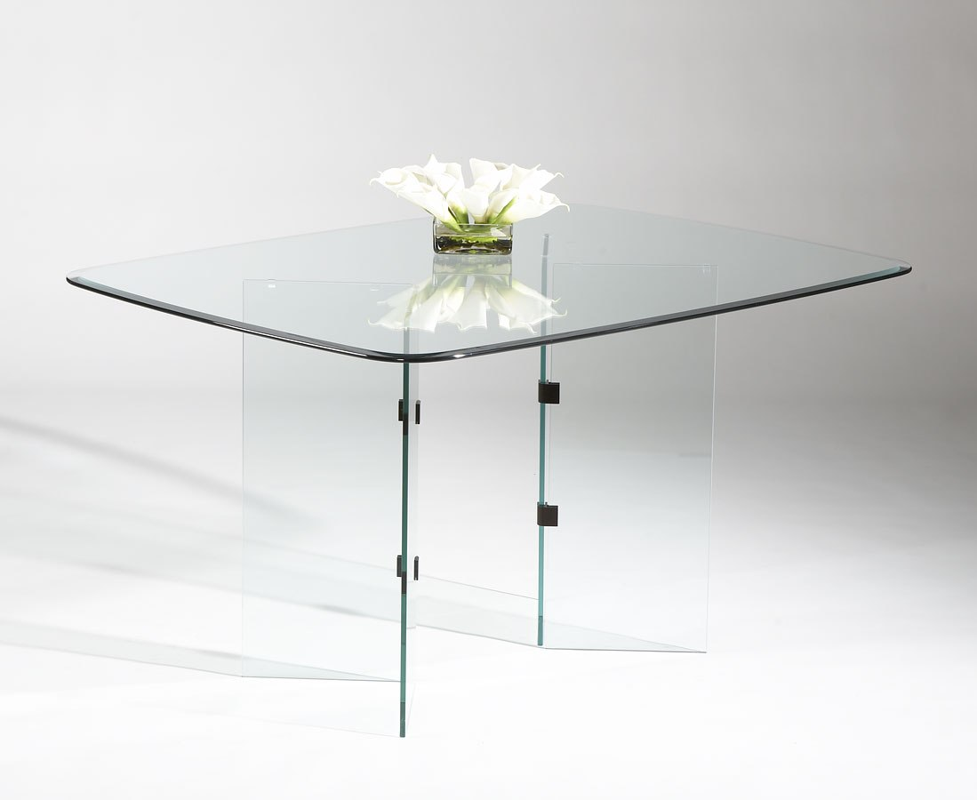 V Base Rectangular Dining Table