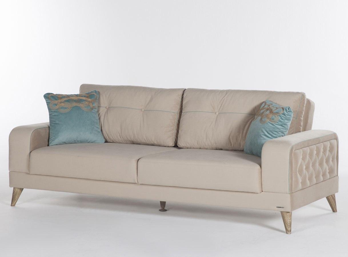 Vienza 3 Seat Sleeper Lilyum Cream Istikbal Furniture Furniture Cart