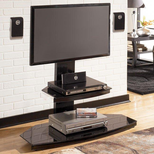 Pascal TV Pedestal w/ Shelf