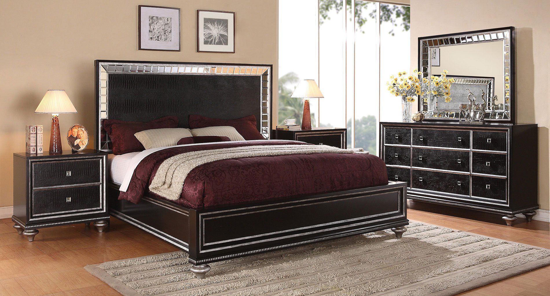 Monterrey Panel Bedroom Set (Black Pearl)