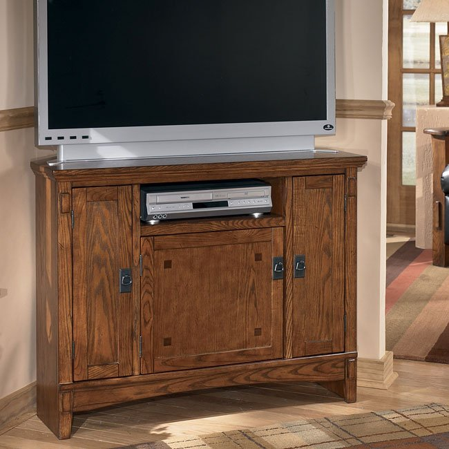 Cross Island Corner TV Console