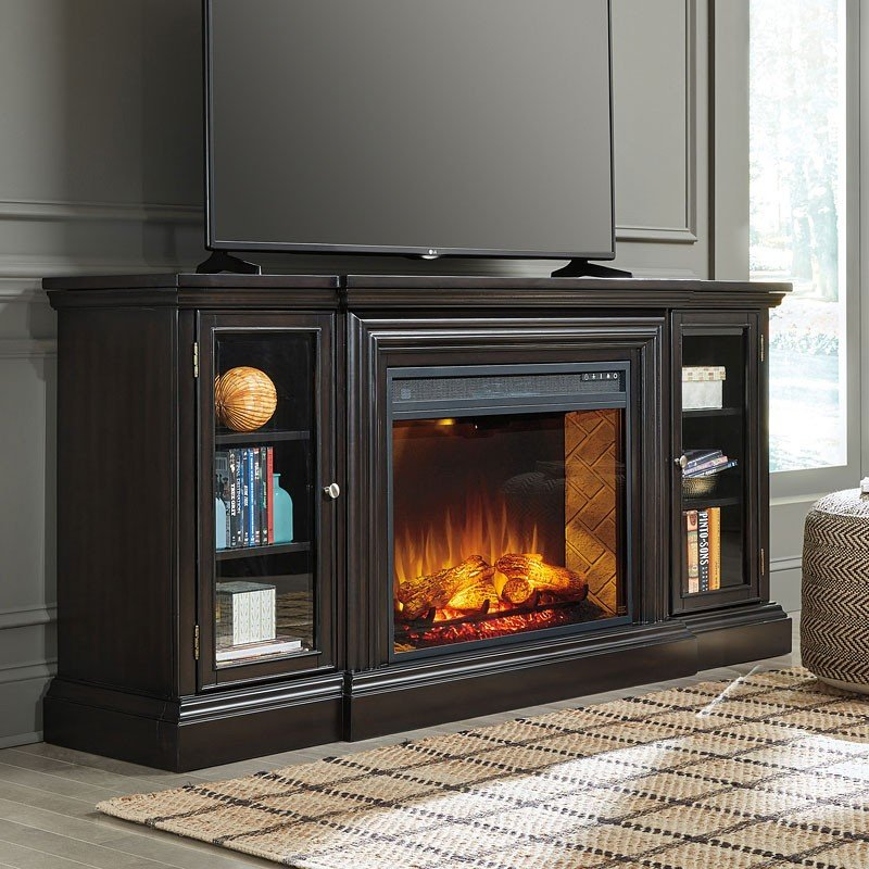 Carlyle Extra Large TV Stand w/ Infrared Fireplace