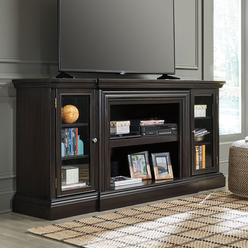 Carlyle Extra Large Tv Stand Signature Design Furniture Cart
