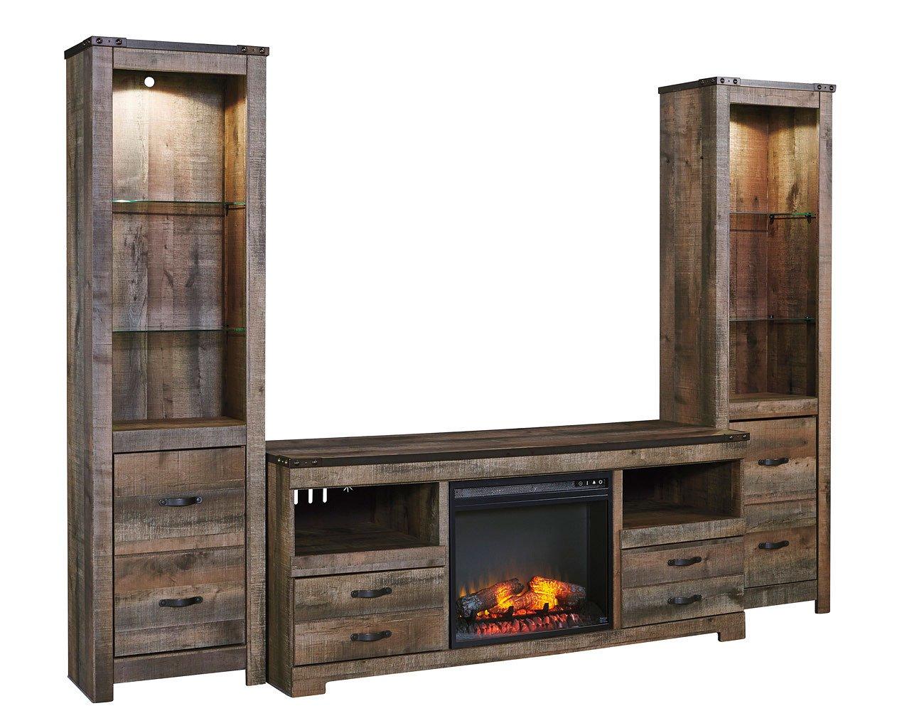 Trinell Entertainment Center W Fireplace Signature Design