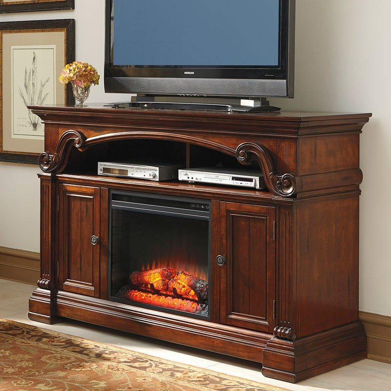 Alymere Tv Stand W Fireplace Insert Signature Design Furniture Cart
