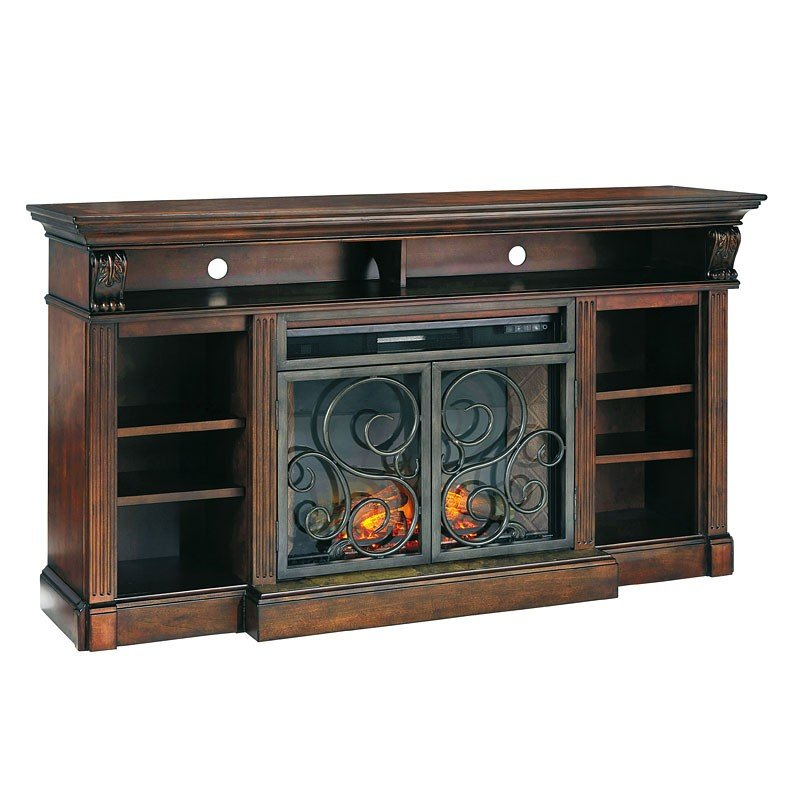 Alymere Large Tv Stand W Fireplace Insert Signature