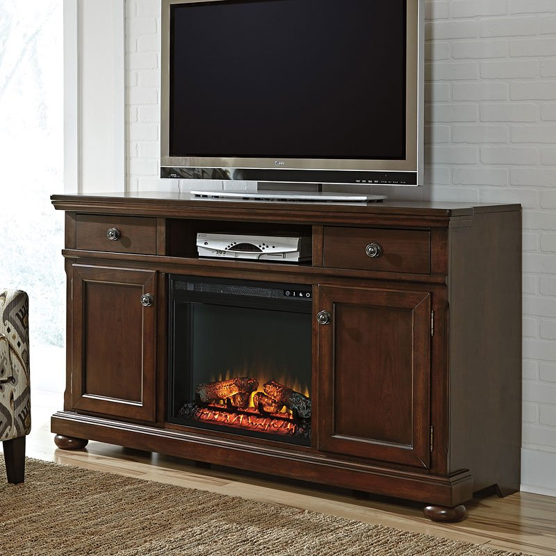 Porter 62 Inch Extra Large TV Stand w/ Fireplace