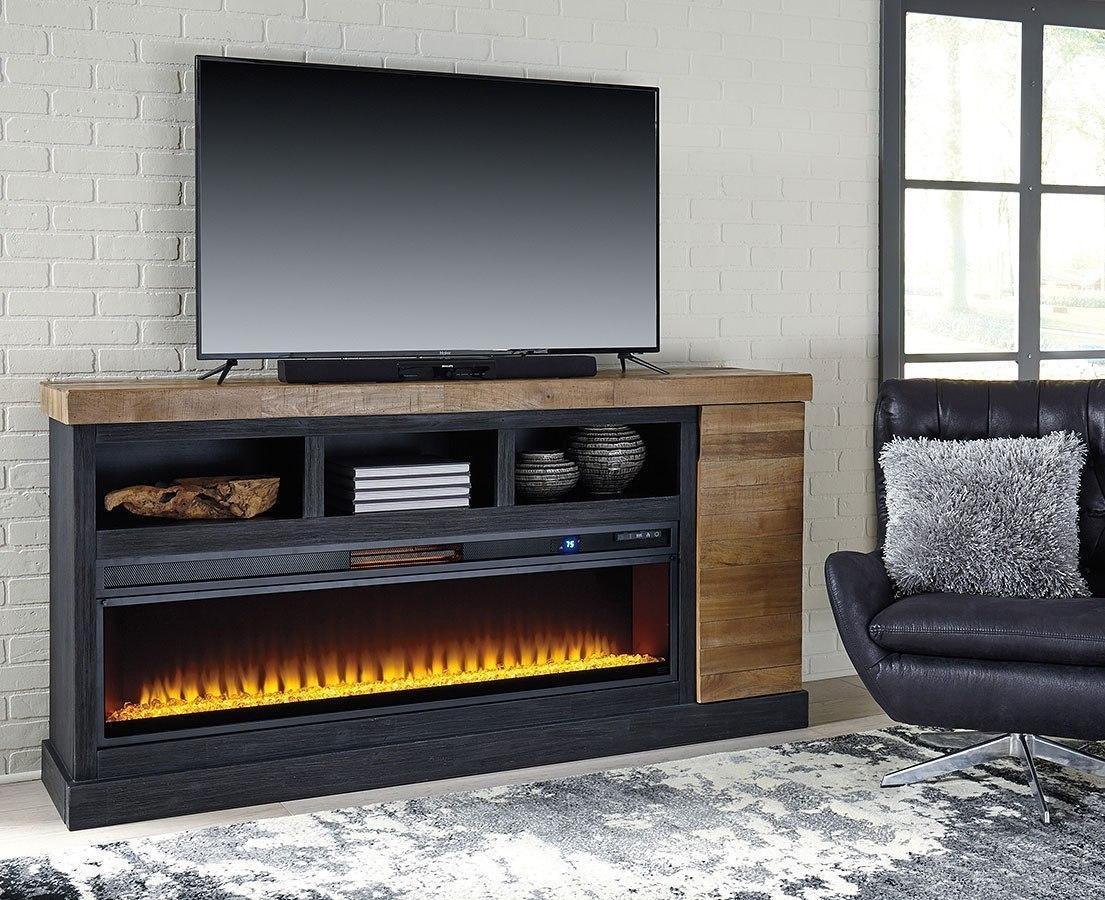 Tonnari Extra Large Tv Stand W Wide Fireplace Signature Design