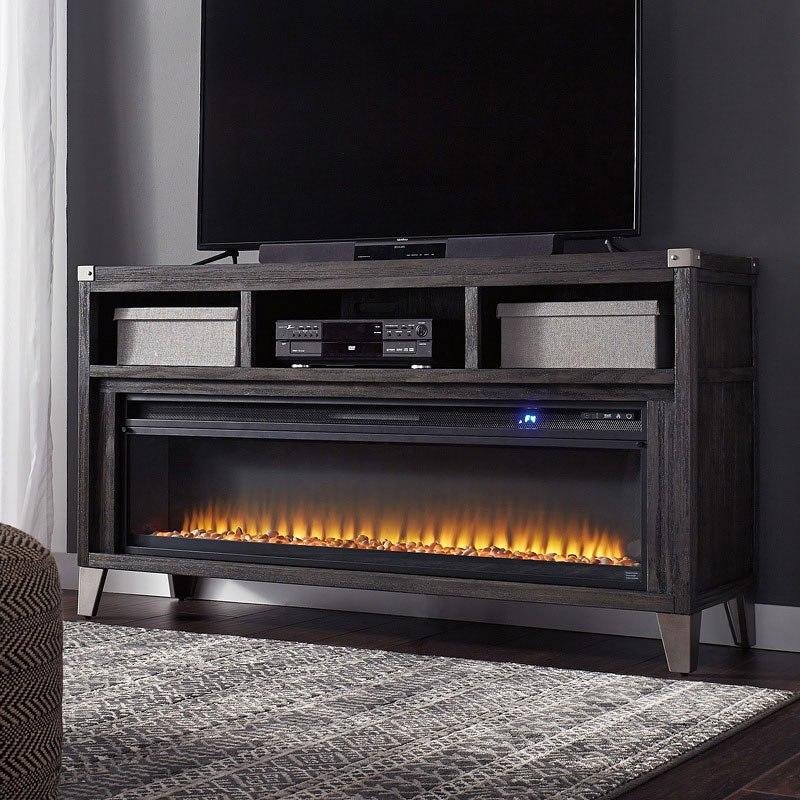 Todoe Large Tv Stand W Fireplace Signature Design