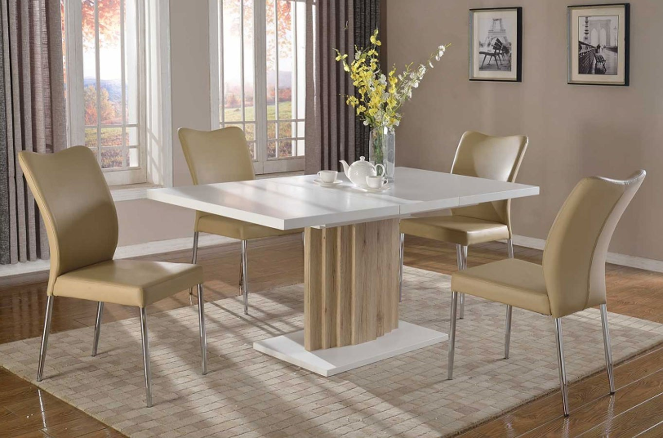 Wendy Dining Room Set W Nora Chairs Chintaly Imports