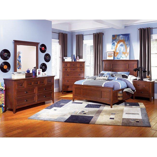 Riley Panel Storage Bedroom Set