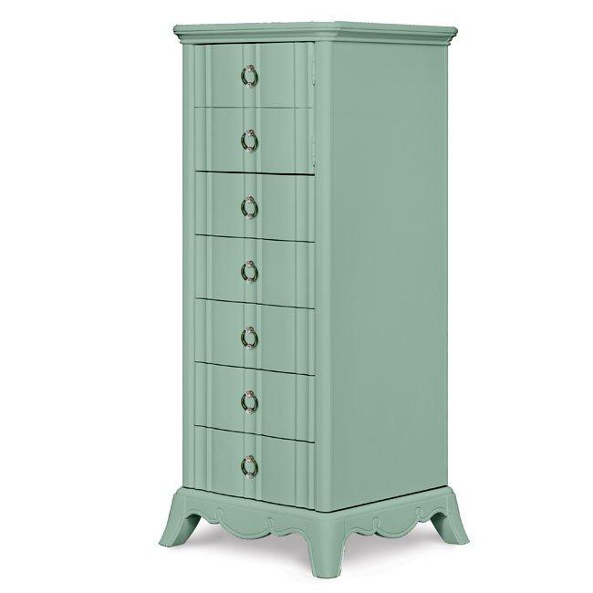 Gabrielle Swivel Chest Light Green Magnussen Furniture Cart