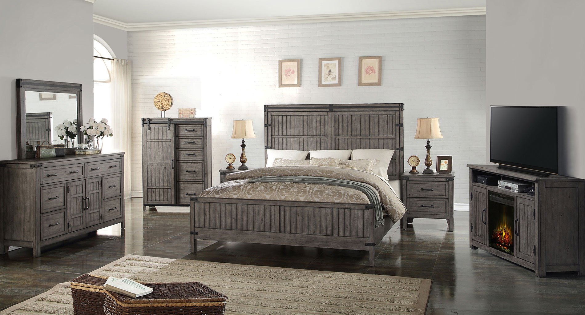 Storehouse panel bedroom set