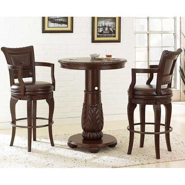 Antoinette Bar Table Set Steve Silver Furniture 3 Reviews