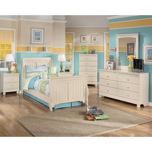 Cottage retreat sleigh bedroom set signature design furniture cart Cottage retreat collection bedroom furniture