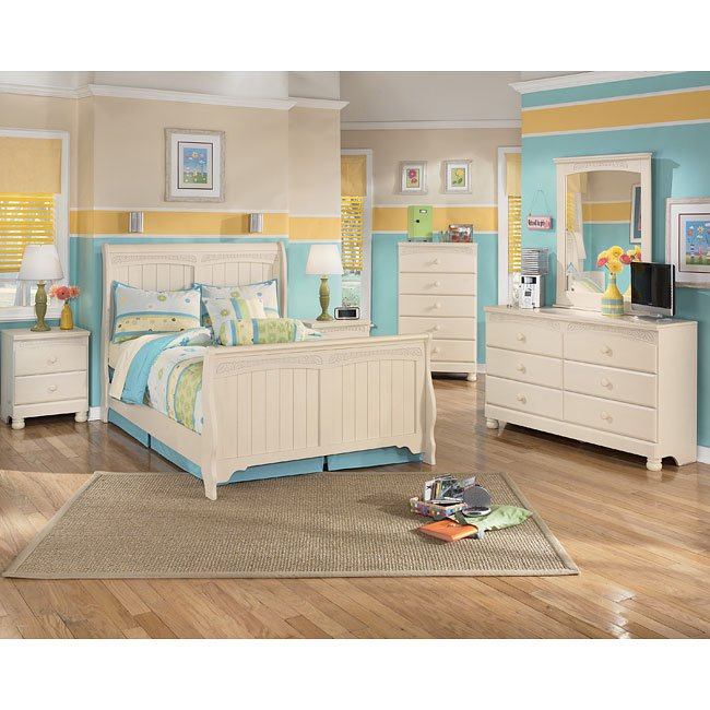 Cottage retreat sleigh bedroom set signature design - Cottage retreat bedroom furniture ...