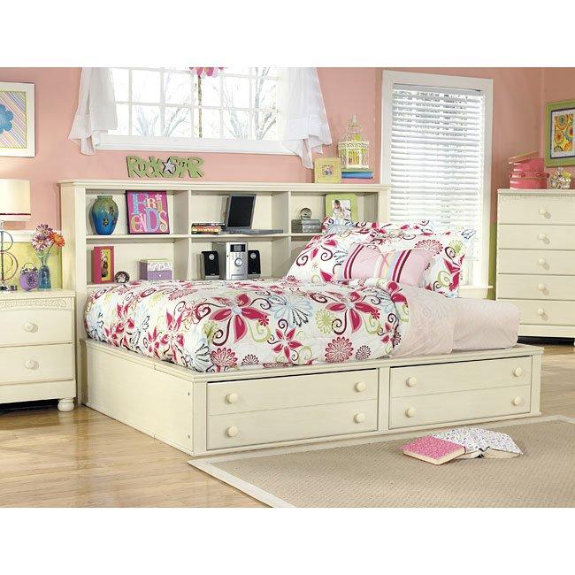 Cottage Retreat Bookcase Bedroom Set Signature Design Furniture Cart