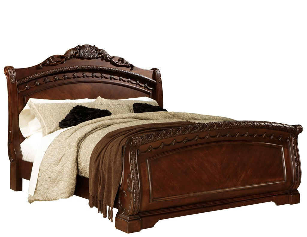 North shore sleigh bed millennium 5 reviews furniture cart - North shore king sleigh bedroom set ...