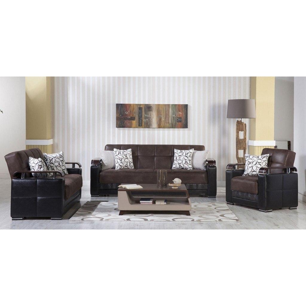Ekol Living Room Set (Silverado Chocolate) Istikbal Furniture ...