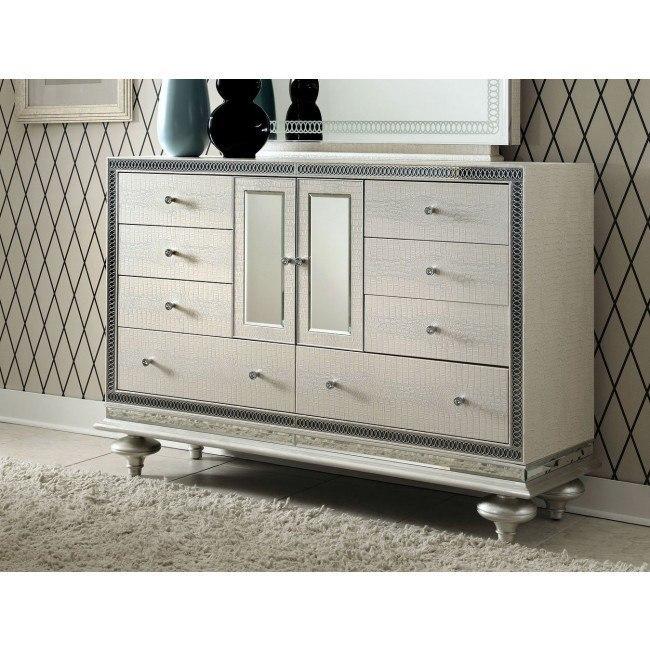 Hollywood Swank Dresser Crystal Croc Aico Furniture 1 Reviews Furniture Cart