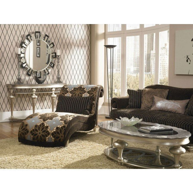 hollywood swank living room set chocolate 038 choco 05 lr set aico furniture