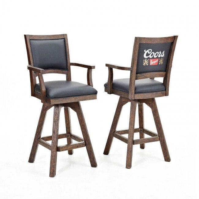 Miraculous Coors Banquet 30 Inch Barstool W Arms Set Of 2 Ncnpc Chair Design For Home Ncnpcorg
