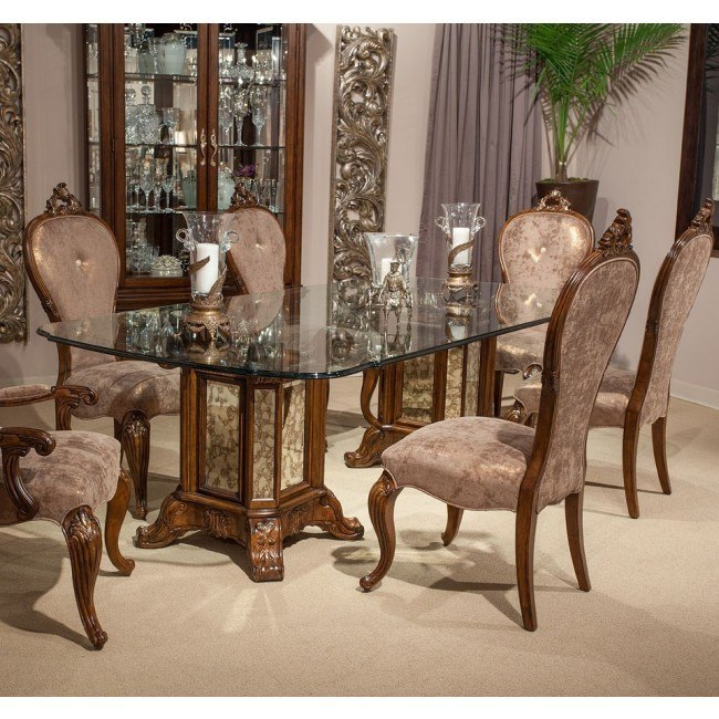 Platine de Royale Rectangular Dining Room Set (Light Espresso)