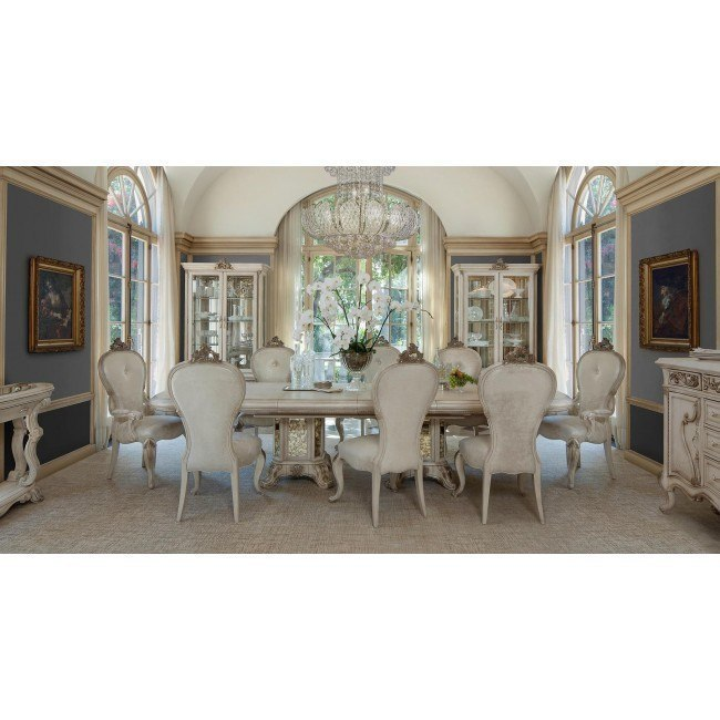 Platine de Royale Rectangular Dining Room Set (Champagne)