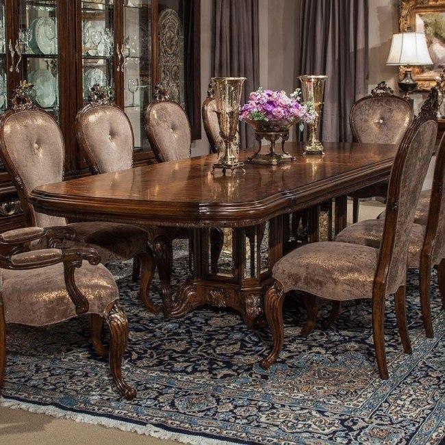 Platine De Royale Rectangular Dining Table Espresso Aico