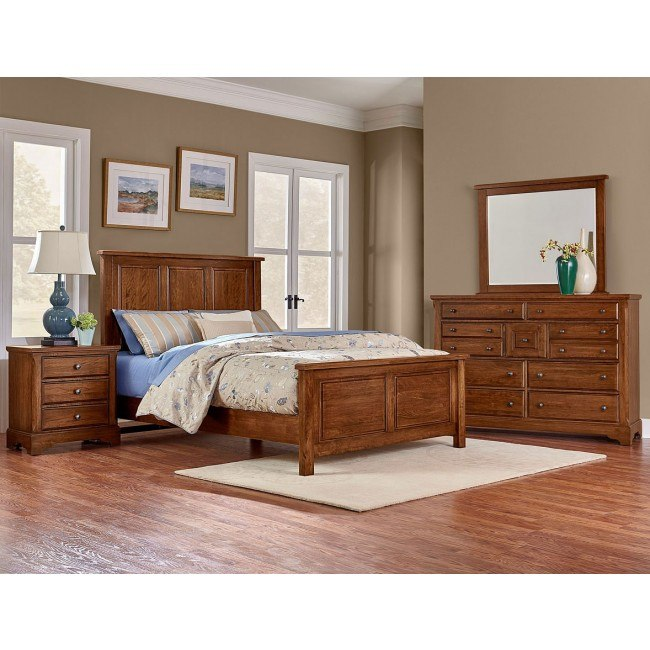 Artisan Choices Panel Bedroom Set (Amish Cherry)