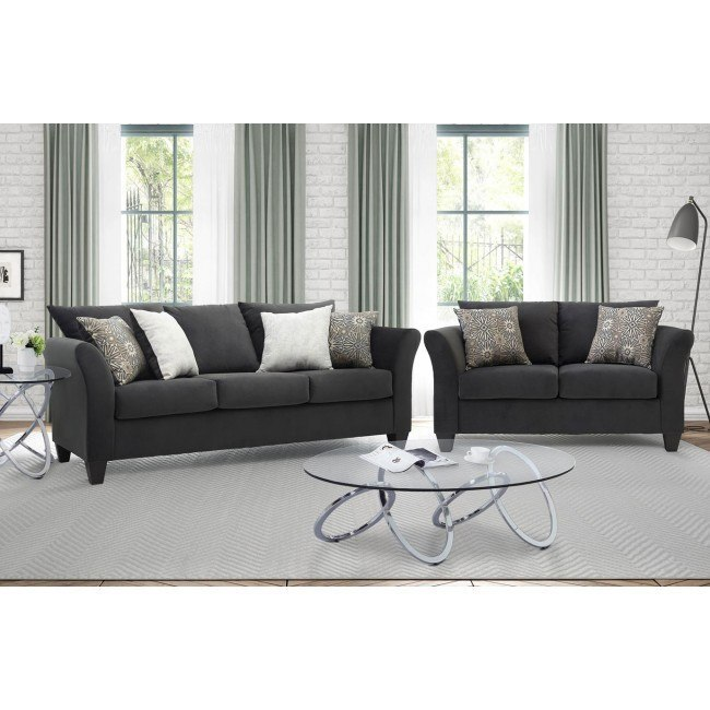 Modern English Ash Living Room Set Chintaly Imports