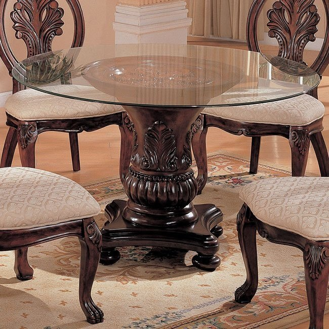 Tabitha 48 Inch Round Glass Table Coaster Furniture 1 Reviews Furniture Cart