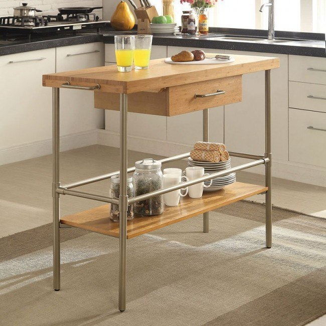 Bamboo Kitchen Island Coaster Furniture Furniture Cart