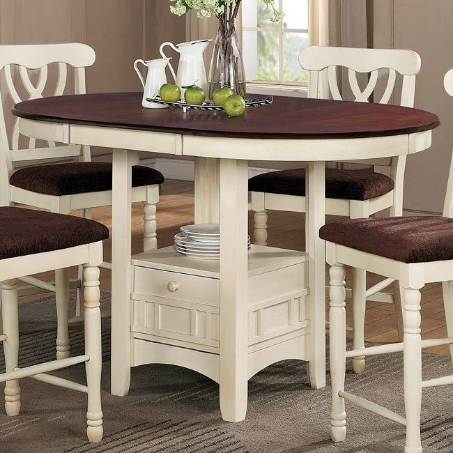 Addison Counter Height Table White