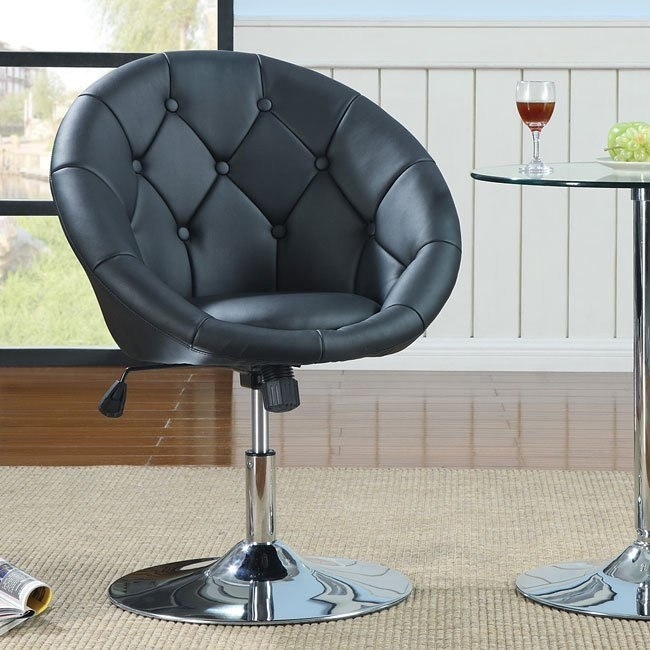 Ultra Modern Swivel Chair (Black) Coaster Furniture ...