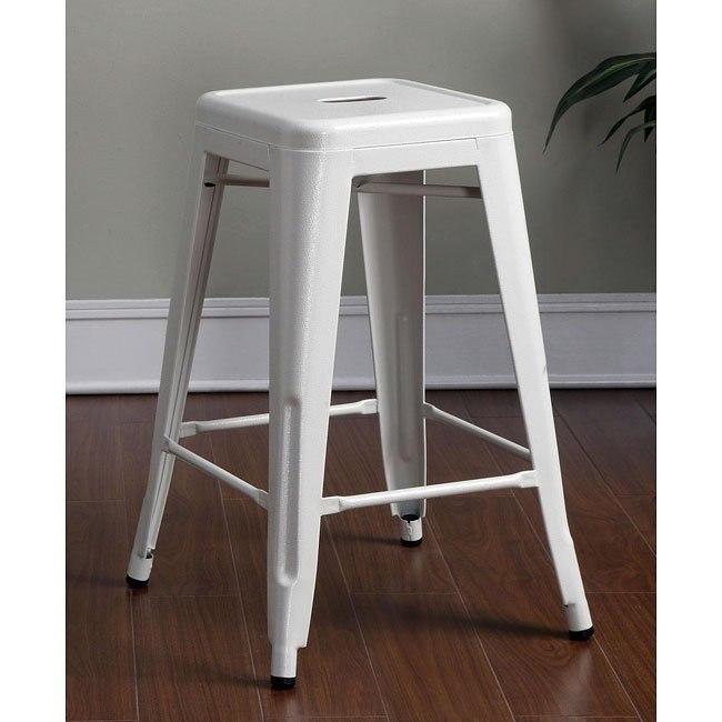 Swell White 24 Inch Metal Bar Stool Set Of 2 Uwap Interior Chair Design Uwaporg