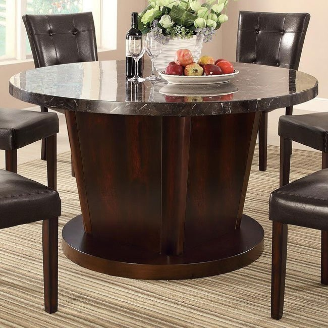 Milton Round Dining Table W Dark Marble Top Coaster Furniture Furniture Cart