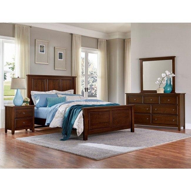 Artisan Choices Panel Bedroom Set (Dark Cherry)