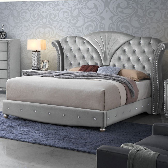 Fantastic Alana Upholstered Bed Silver Pdpeps Interior Chair Design Pdpepsorg
