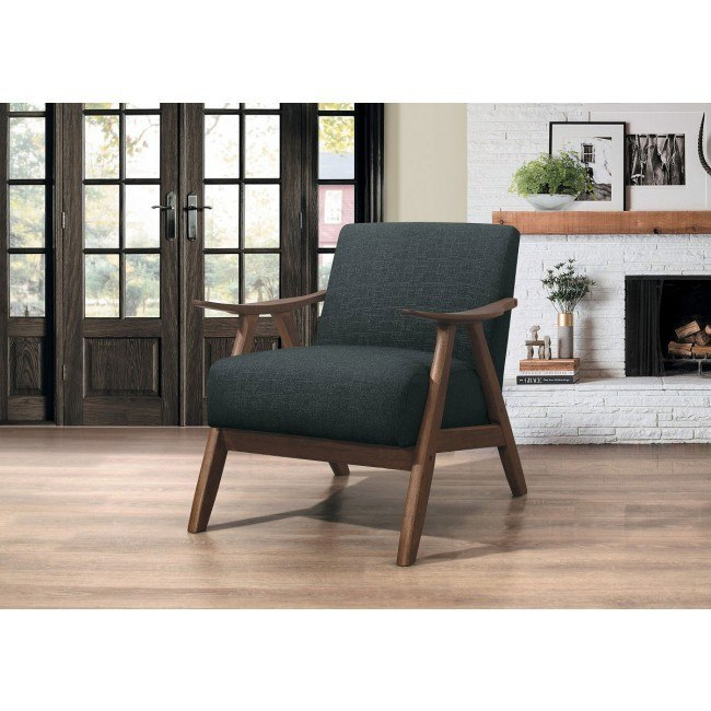 Brilliant Damala Accent Chair Dark Gray Gmtry Best Dining Table And Chair Ideas Images Gmtryco