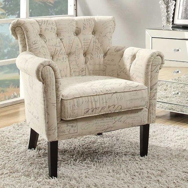 Peachy Barlowe French Script Pattern Accent Chair Theyellowbook Wood Chair Design Ideas Theyellowbookinfo