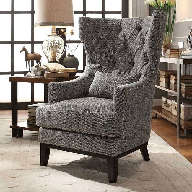Superb Adriano Accent Chair W Kidney Pillow Gmtry Best Dining Table And Chair Ideas Images Gmtryco