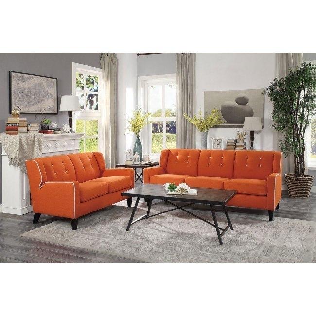 Roweena Living Room Set (Orange)