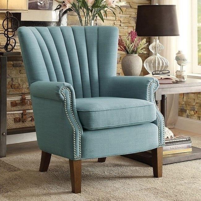 Phenomenal Essex Blue Accent Chair Machost Co Dining Chair Design Ideas Machostcouk