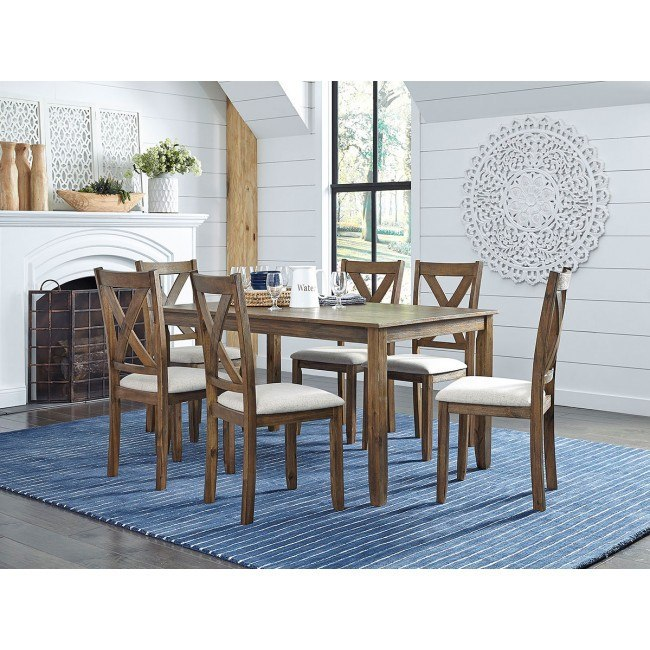 Langston Dark 7 Piece Dining Room Set